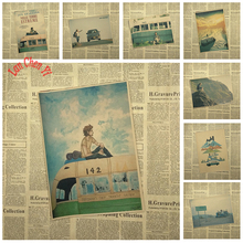 Multiple awards Into the Wild Classic Movie Kraft Paper Poster Cafe Design Painting art Art wallpaper