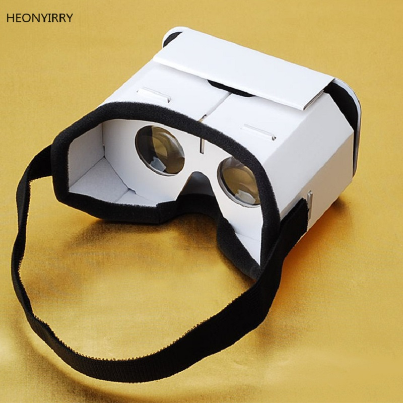 DIY Portable Virtual Reality Glasses Google Cardboard 3D Glasses VR glasses For SmartPhones For Iphone X 7 8 VR(China)