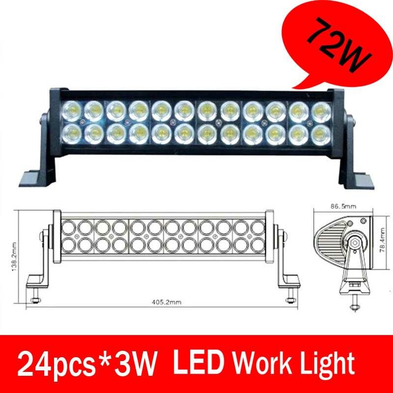 ФОТО 72W High power LED Offroad Driving work Lighting/Car LED light bar, Mining LED offroad light