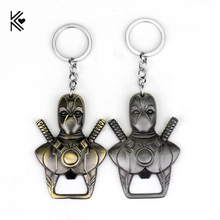 2 Colors Newest font b Anime b font Cartoon X men Deadpool Bottle opener Key chain