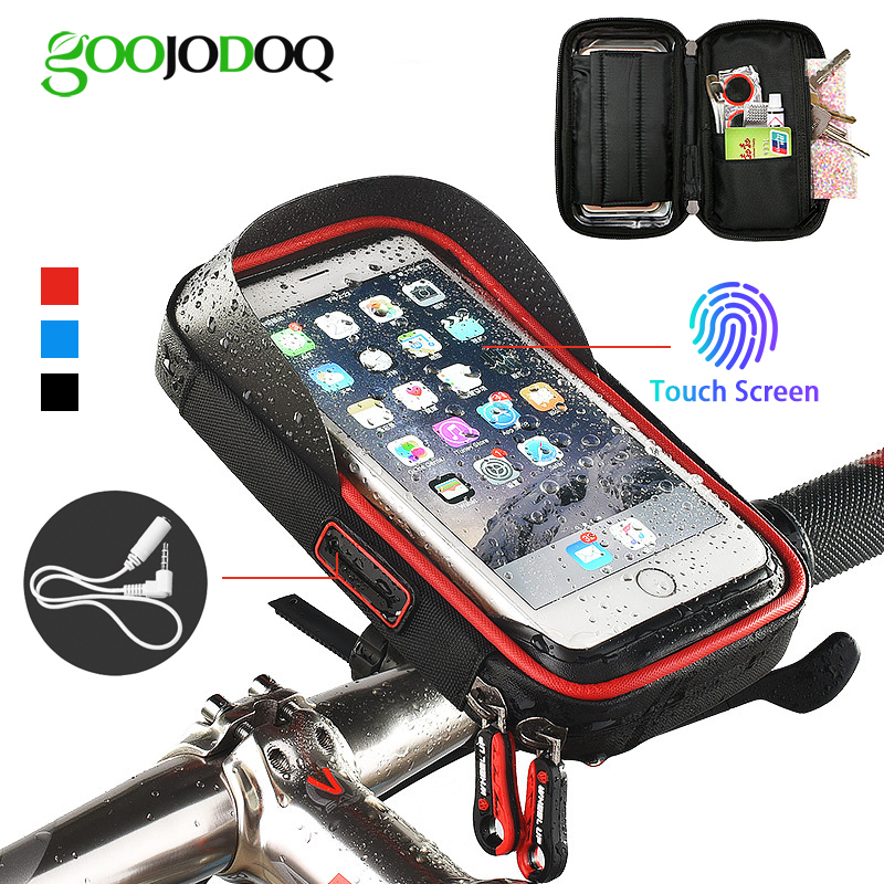 Bicycle Phone Holder Waterproof Bag Bike Phone Case handlebar MTB Frame Pouch Bag for iPhone X