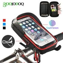 Bicycle Phone Holder Waterproof Bag Bike Phone Case handlebar MTB Frame Pouch Bag for iPhone X 8 7 Samsung XIAOMI GPS Universal