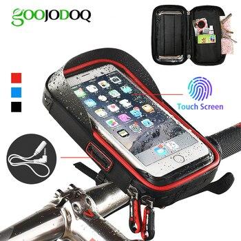 Soporte para teléfono de bicicleta bolsa impermeable funda de teléfono para bicicleta manillar MTB bolsa de marco para iPhone 7X8 Samsung XIAOMI GPS Universal