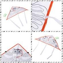 1 шт. красочный воздушный змей DIY картина воздушный змей Летающий складной открытый пляжный воздушный змей Дети Спорт забавные игрушки