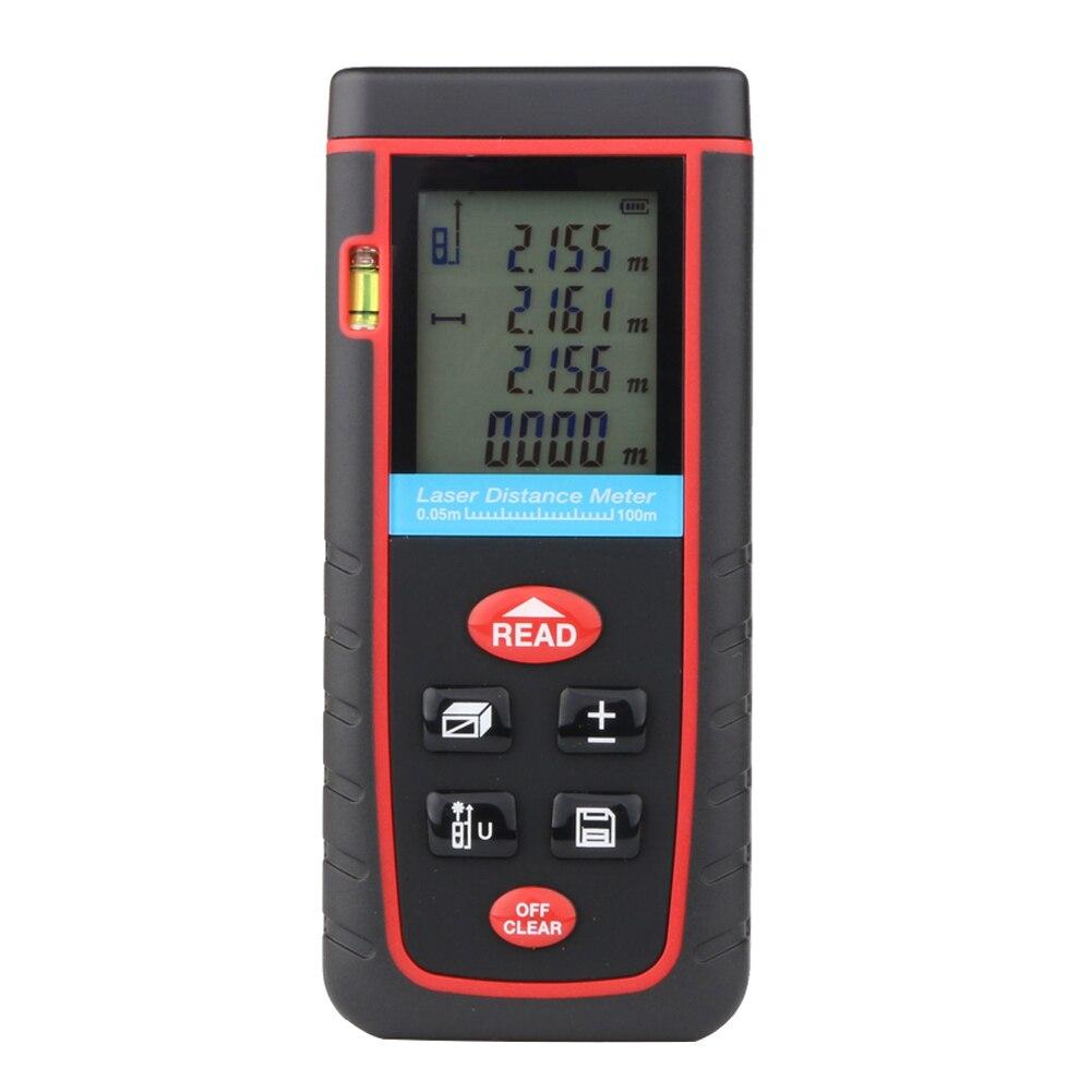 100M Handheld Fast Digital Auto Laser Distance Meter Rangefinder Range Finder Measure Diastimeter Build Measure Device FULI  100m digital lcd laser distance meter measure range finder area diastimeter