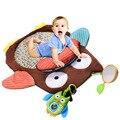 76 cm * 76 cm Esteira Do Jogo Do Bebê Do Bebê Do Algodão Macio Atividade Mat Rastejando esteira do Jogo Mat Pad Acolchoado Bolster Grande Espelho Mordedor Animais presente