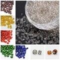 50g de Plata Forrada 6/0 8/0 12/0 2/3/4mm Semilla de Cristal de Cristal joyería Suelta perlas redondas para la joyería que hace Del Agujero Rojo Oscuro Blanco celeste