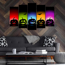 5 Pieces Canvas wall Art Prints Wall Painting Hallowmas Poster Modern Canvas Art Pictures for Living Room Home Decor Abooly