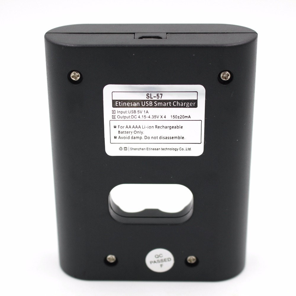 Lithium ion Battery USB charger for Etinesan SL-5 1.5v AA li-po lithium battery only