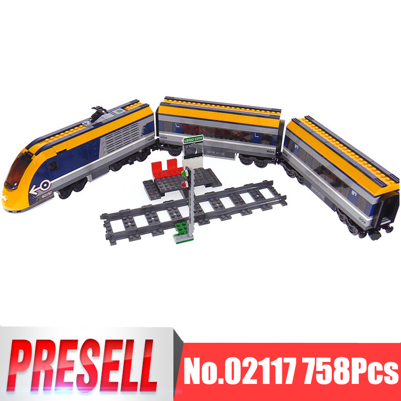 Lepin 02117 City Figures 758Pcs Passenger Train Sets Compatible LegoINGly 60197 Model Building Kits Blocks Bricks Boy Toys Gift