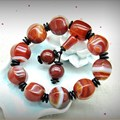 Yumten Natural Sardonyx Agate bead bracelet Women And men lovers bracelet couples bracelets Passepartout beads bracelets Jewlery