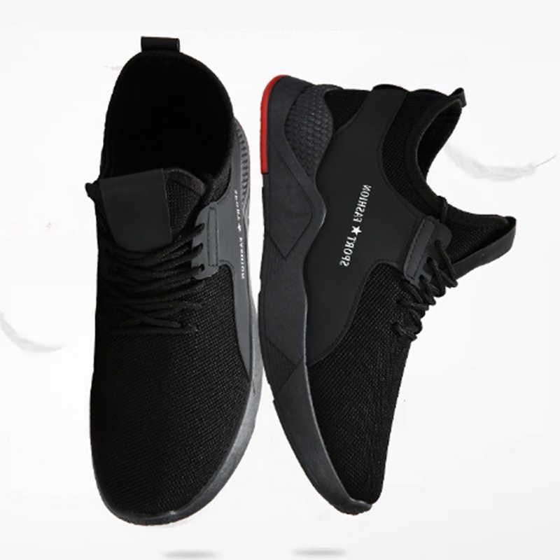WENYUJH Torridity черные мужские вулканизированные туфли дышащие повседневные спортивные мужские кроссовки сетчатые кроссовки на плоской подошве Большие размеры 39-44
