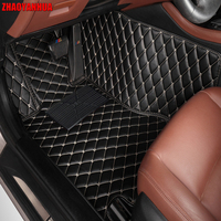 ZHAOYANHUA Car floor mats for Honda Accord 7th 8th 9th generation 5D all weather car styling carpet rugs floor liners(2003 )