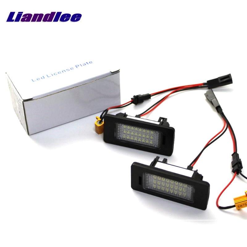 Liandlee For Volkswagen VW Lavida / Grand 2013~2015 LED Car License Plate Lights Number Frame Light High Quality Lamp