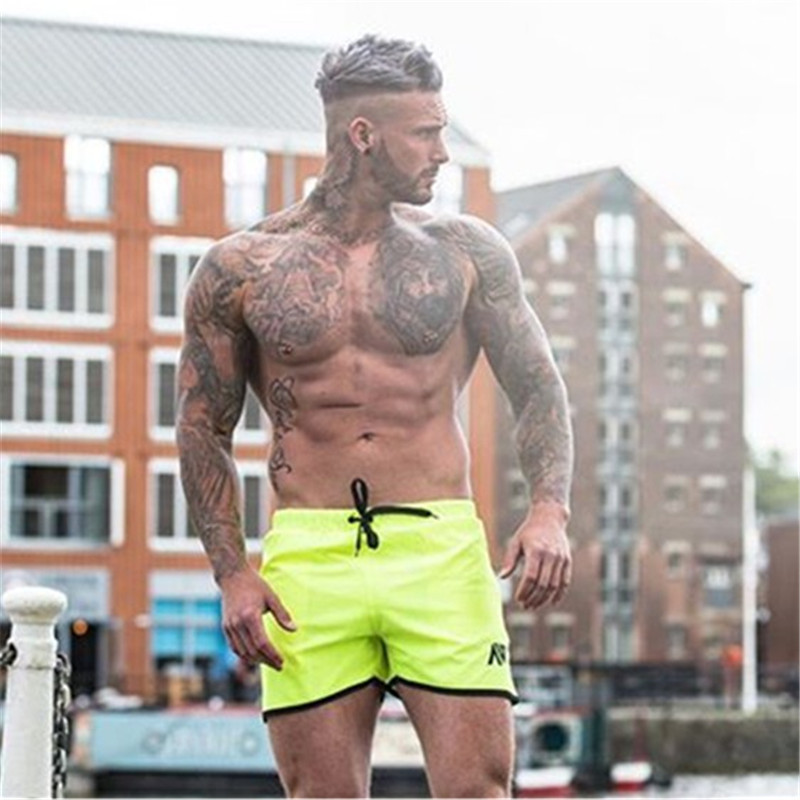 2019 Summer New Men Shorts Fitness Fashion White Casual Workout Brand Short Pants High Quality Shorts Europe And America Style