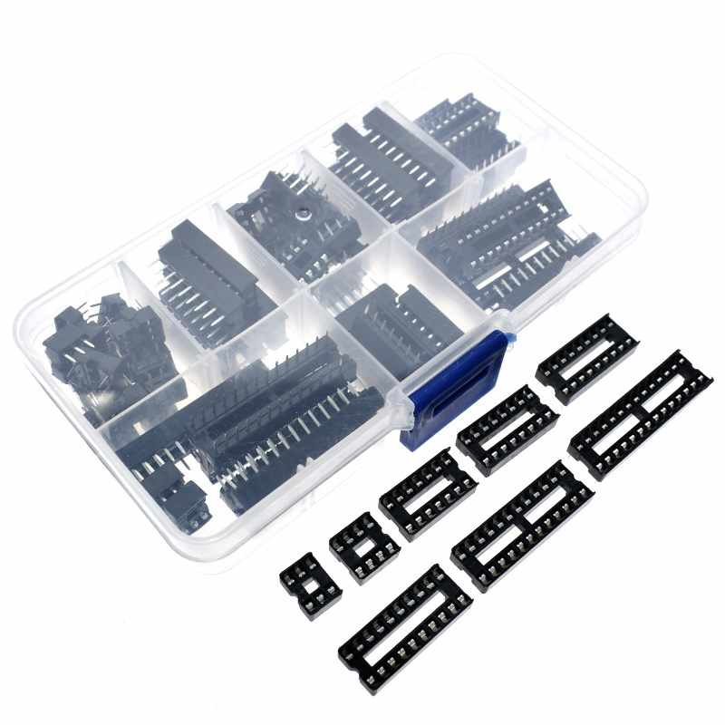 66 teile/los DIP IC Steckdosen Adapter Solder Typ Sockel Kit 6 8 14 16 18 20 24 28 Pin DIP -8 16-Pins DIP8 DIP16 IC Stecker