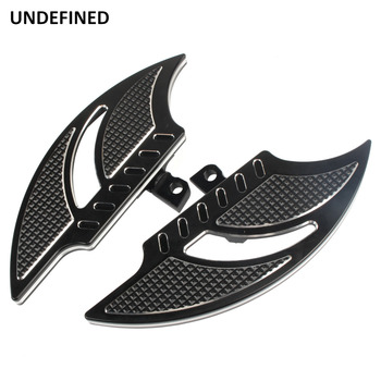 Black Motorcycle Foot Pegs Passenger Male Mount Floorboard Footrest For Harley Touring Road King Electra Glide Dyna FXD FXS FLHT