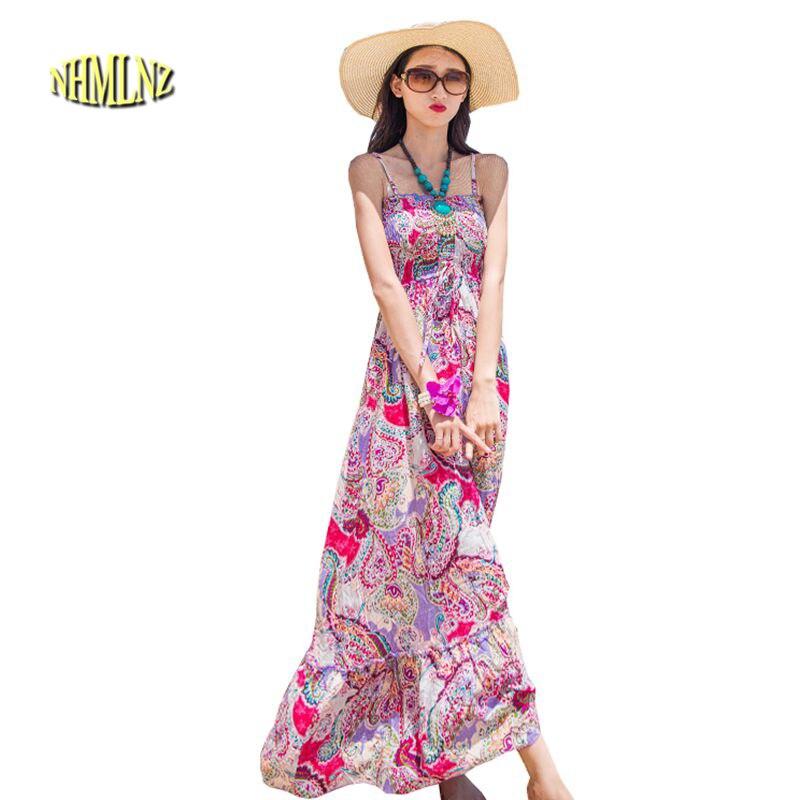 ộ_ộ ༽2018 verano nueva moda mujeres vestido elegante impresión ...