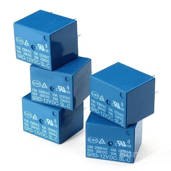 Free Shipping 50pcs /lot SRD-12VDC-SL-C PCB Type 12V DC Relay Module