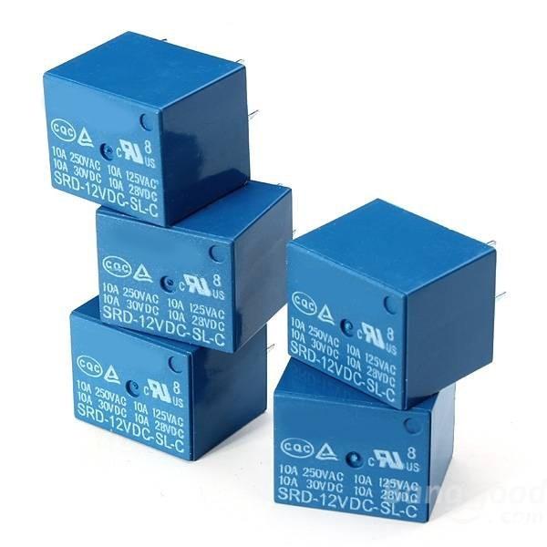 Free Shipping 50pcs /lot SRD-12VDC-SL-C PCB Type 12V DC Relay Module