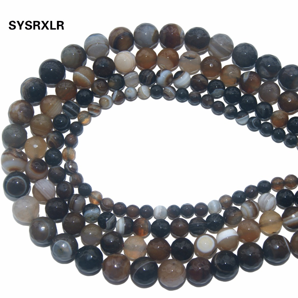 Wholesale Faceted Coffee Agat Natural Stone Loose Beads For Jewelry Making DIY Bracelet Necklace 4 6 8 10 12 MM Strand 15 5 39 39 in Beads from Jewelry amp Accessories