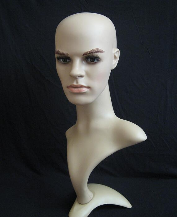 display mannequin head,hair wig head hat,mannequin heads for sale display, headphones Suitable,mannequin male M00488