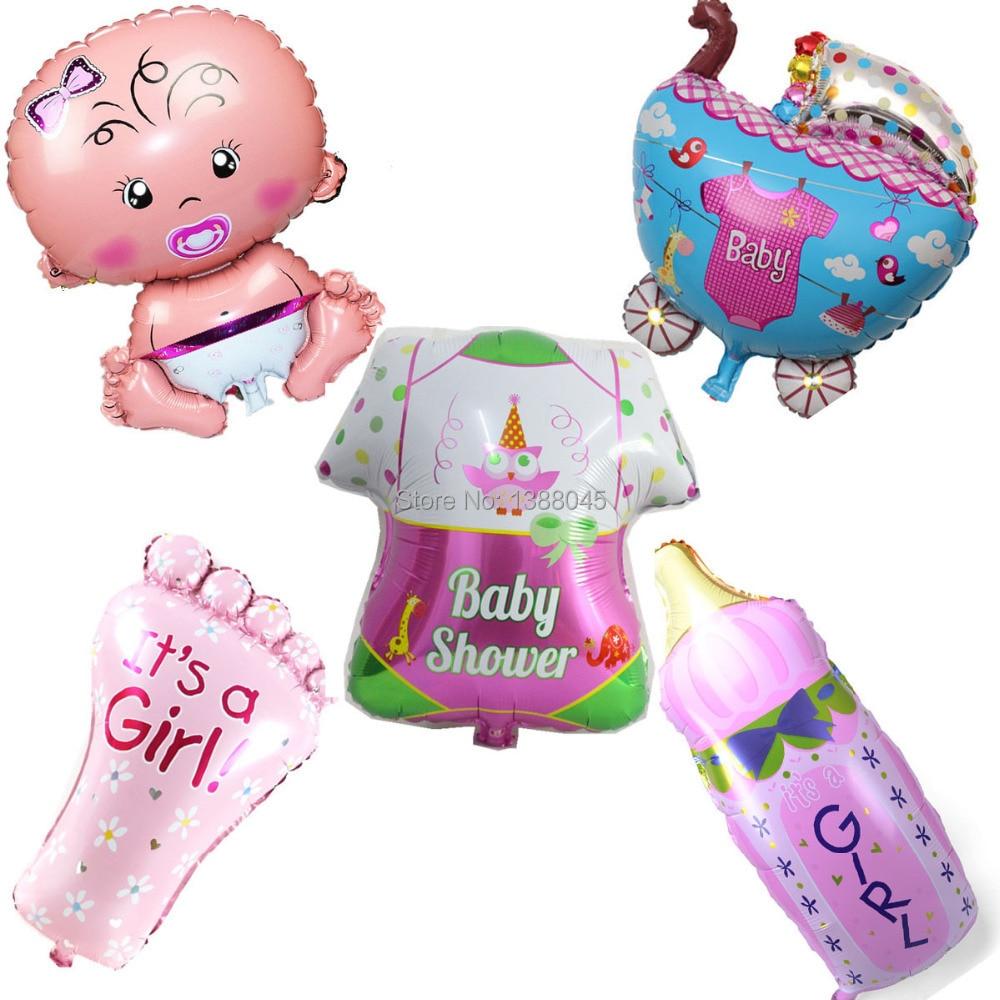 5 sztuk / partia Baby Shower Balony Foliowe Baby Boy Birthday Party Dekoracje Pamiątki Baby Shower Boy