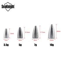SeaKnight SK01 Bullet Lead Sinker 10PCS/Bag Weight 3.5g 5g 7g 10g Fishing Accessory Plummet Lead Drop Down Sinker Fishing Tackle