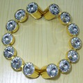 96mm Fashion Deluxe Gold Handles Diamond Drawer pulls Glass Crystal Kitchen Cabinet Pull half round Furniture Handle Pulls Knobs