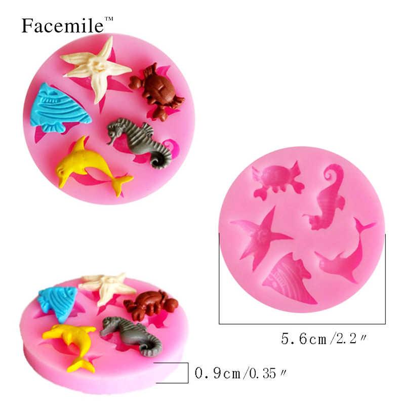 Формы для помадки силиконовые формы для помадки формы для тортов морские животные силиконовая форма для торта украшения 50-110 подарок