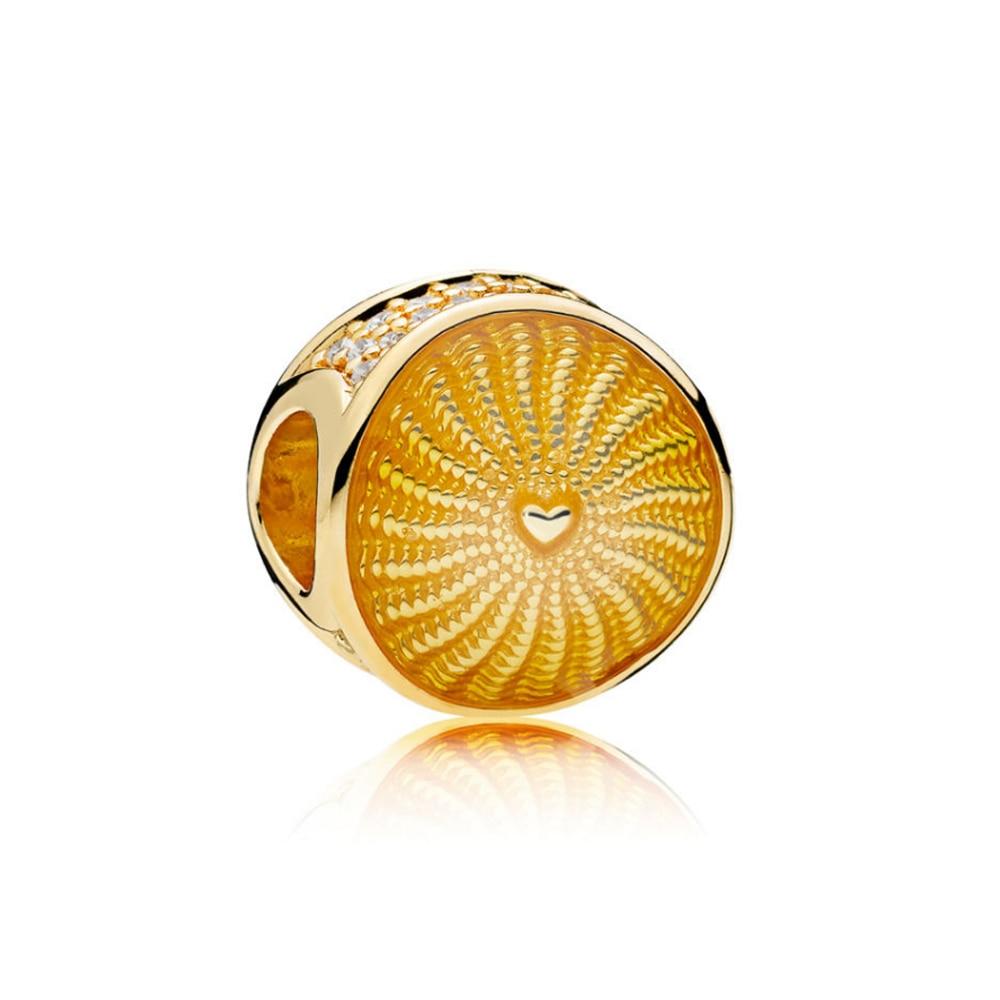 2019 100% 925 Sterling Silver 1:1 Authentic 767128EN158 Rays of Sunshine Charm Bead Original Women Jewelry2019 100% 925 Sterling Silver 1:1 Authentic 767128EN158 Rays of Sunshine Charm Bead Original Women Jewelry