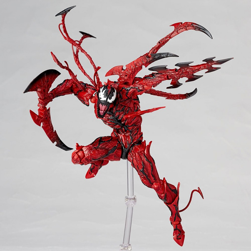 Revoltech Amazing Red Venom Carnage Amazing Captain America Spiderman Magneto Wolverine X-men Action Figures Toy Doll (54)