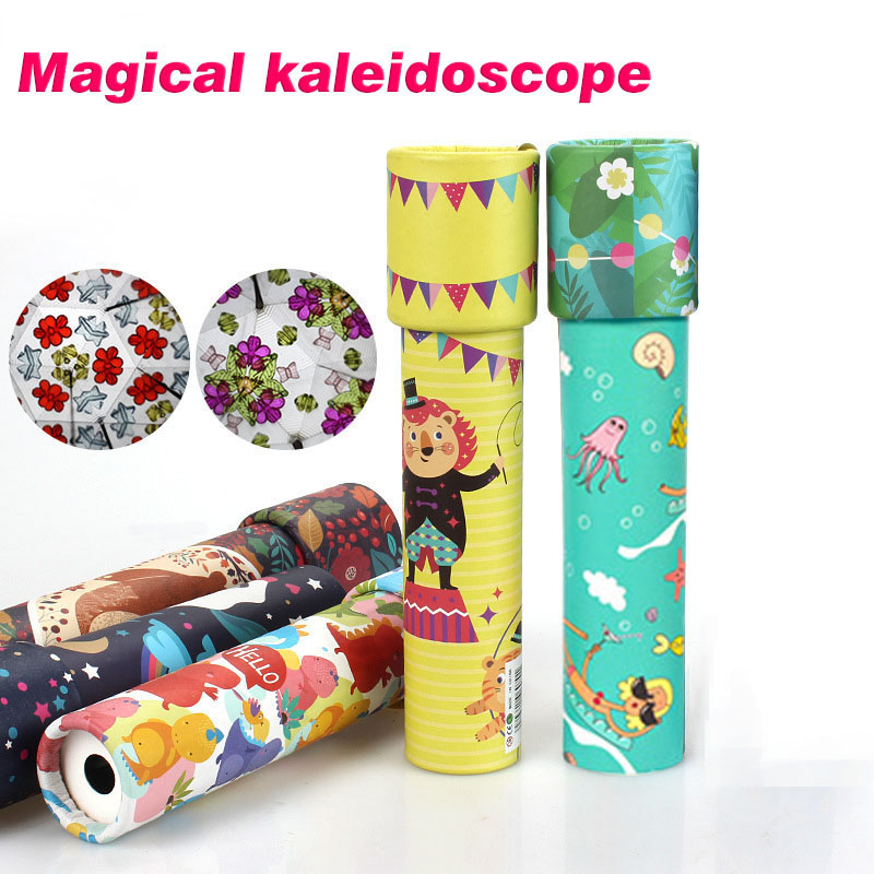 Hot Selling Children Classic Toy Kaleidoscope Rotatable Top Toddler Sensory