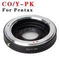Contax Yashica CY C/Y Lens to Pentax K PK Mount Adapter with Optical Glass & Cap