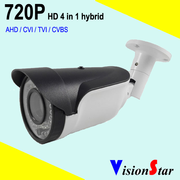 720P HD analog 4 in 1 AHD / CVI / TVI / CVBS hybrid surveillance video security outdoor camera OSD menu control 2mp 1080p surveillance ptz ir speed dome camera 10x optical zoom cvi ahd tvi cvbs osd menu transfer hd coaxial control rs485
