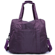 Frauen lila gepäck reisetasche Nylon wasserdicht großraumhandtasche schulter mit starken griff mala de viagem