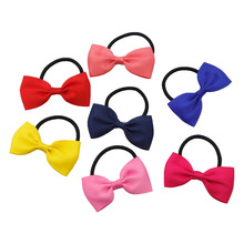 Детская повязка на голову, однотонная магазинная лента Гро-Гро, эластичная резинка для волос бабочка, повязка для волос, Детские аксессуары для волос