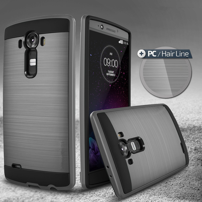 New  Hot Selling Tough Slim Brushed Armor Case For Lg G4 -1951