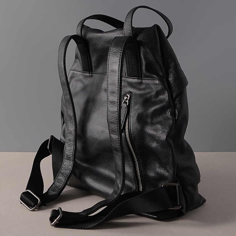 Zency большой емкости женский рюкзак для ноутбука 100% натуральная кожа Повседневный праздничный ранец черный школьный Большая Дорожная сумка качество A +