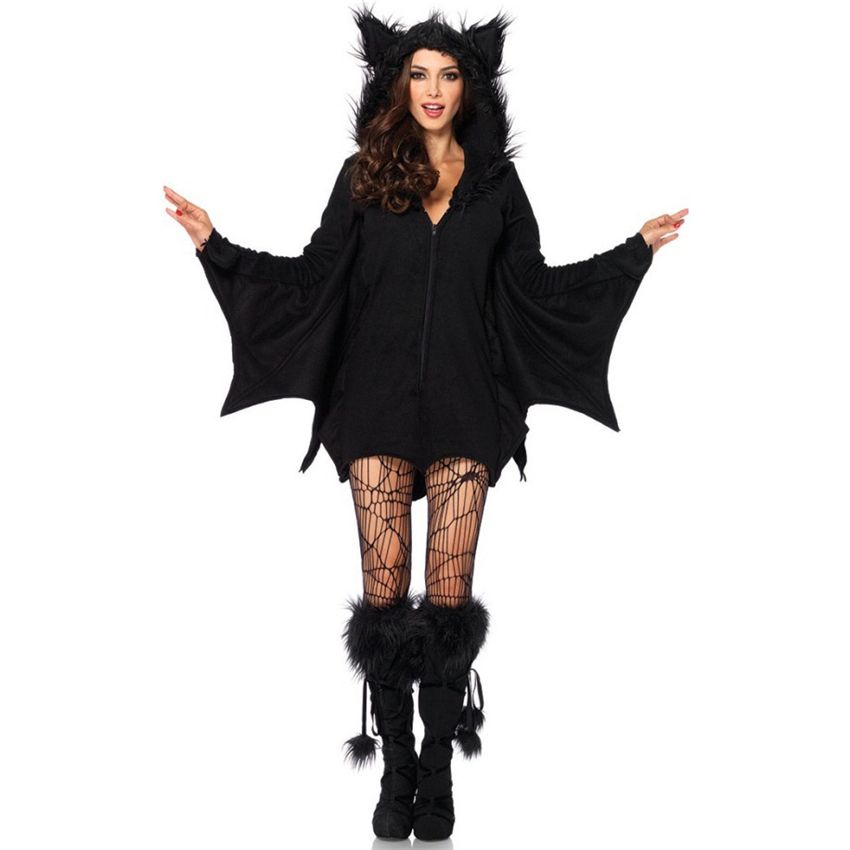 2019 Halloween Costumes for Women Vampire Devil Bat Witch Dress Sexy Scary  Dress Sock Party Festival Plus Size M~4XL Costume Set