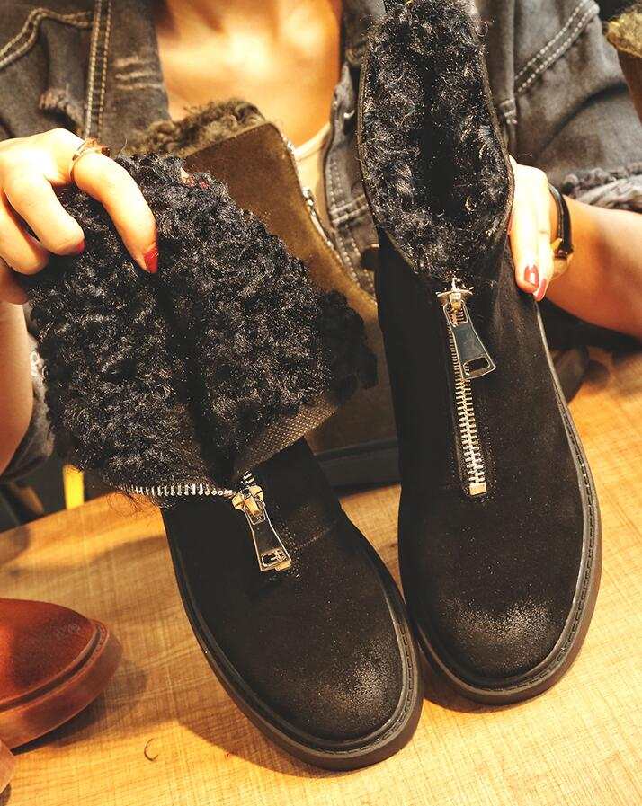 2018-Front-Zipper-Cool-Female-Snow-Boots-Plus-Fur-Winter-Shoes-Flat-Boots-Woman-Lamb-Fur(5)