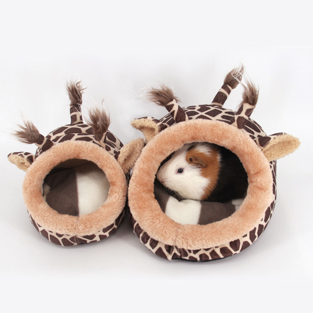 Hamster Cage Guinée de Porc Maison Chinchillas Écureuil Lit Nid Cobaye Mini Animaux Hamster Accessoires Rose Léopard