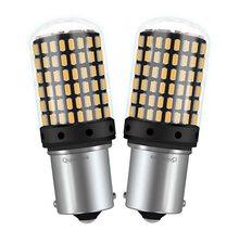 Clignotant lumineux LED 1156PY 7507 PY21W BAU15S 2000Lm, 2 pièces, sans Hyper Flash, CANBUS, indicateur de Direction de voiture