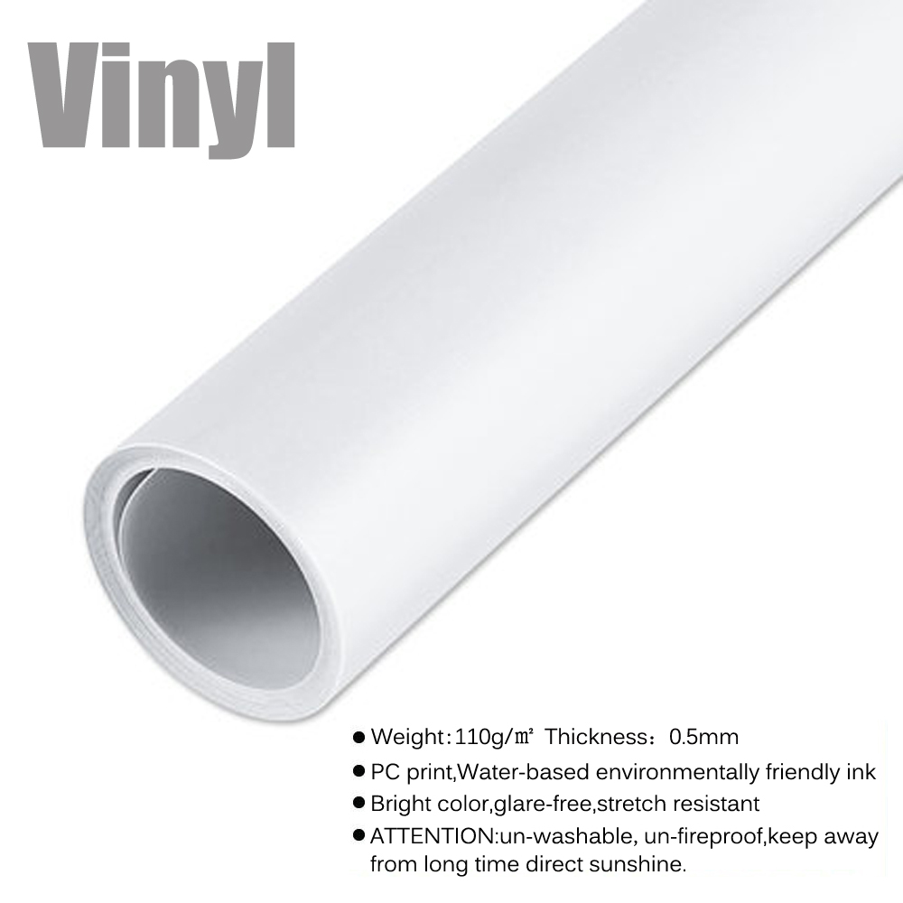 Pure White Photo Background HUAYI Vinyl&Polyester Photography Backdrop for Photo Studio Pictures Or Private Ins Photos