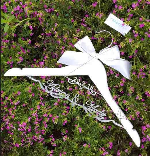 Блестящие Серебряные Персонализированные Свадебные вешалки для одежды на заказ, Свадебные вешалки для невесты, подарки на вечеринку