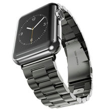 Stainless Steel Watch Band Strap Classic Buckle Adapter Link Bracelet Watch Band for Apple Watch band 38mm 42mm Space Gray