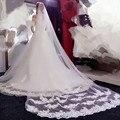 The new 2017 Korean wedding veil brides vintage car bone lace 3 meters long trailing soft veil