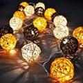 Creative Rattan Sepak Takraw Light Strings 5m 20 LED String Garlands Villa Fence Beach Bar Wedding Christmas Party Decorations