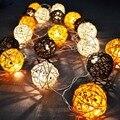 Hot 5 m LED String Luz Sepak Takraw Rattan Bolas Cordas 20 Lâmpadas Guirlandas Cerca Bar de Praia Festa de Natal de Casamento decoração