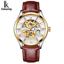 IK hommes montre automatique hommes d'affaires montre mécanique montre mécanique montre pour hommes automatique moyen lumineux tendance creux
